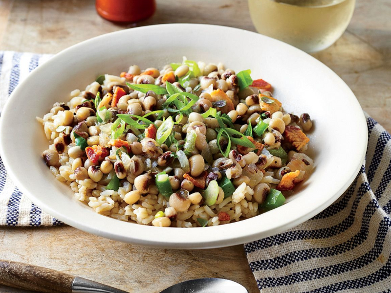 Hoppin John with Seasoned Roasted Tofu
