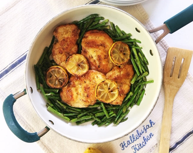 Intense Lemon Chicken with Asparagus