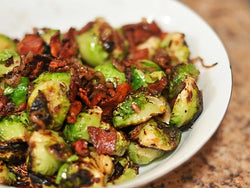Roasted Brussel Sprouts with Caramelized Shallots & Bacon (Holiday Pre-Order)