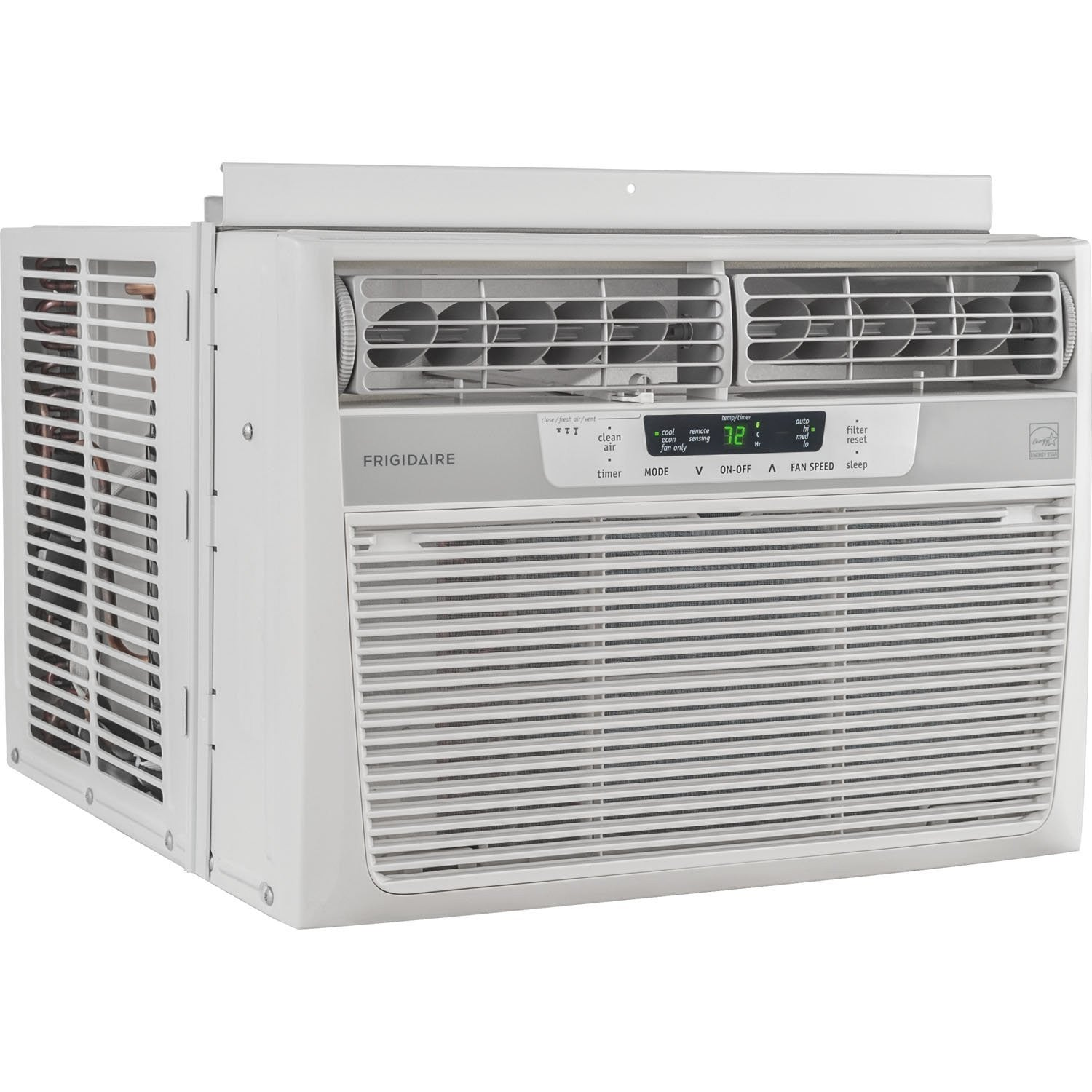 Frigidaire 12000 Btu 115v Window Mounted Compact Air Conditioner Temperature Sensing And Control With Remote