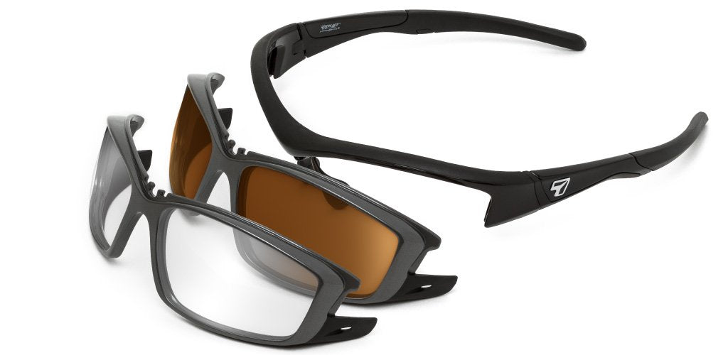 Rocker (Interchangeable Lenses) - 7eye by Panoptx - Motorcycle Sunglasses - Dry Eye Eyewear - Prescription Safety Glasses