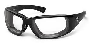 Taku Plus | Bifocal Reader - 7eye by Panoptx - Motorcycle Sunglasses - Dry Eye Eyewear - Prescription Safety Glasses