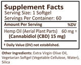 60 COUNT PlusCBD™ 15mg CBD Gold Formula Softgels - US Hemp Oils
