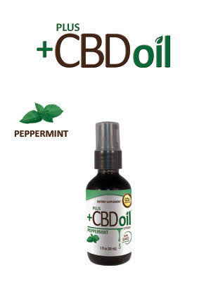 PlusCBD™ 1 OUNCE PEPPERMINT SPRAY - US Hemp Oils
