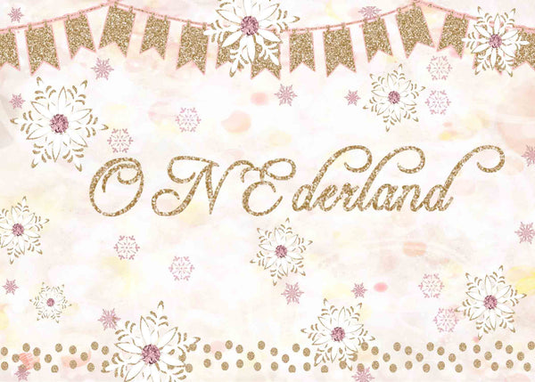 Onederland Pink Bokeh 1st Birthday Girl Invitation - Custom Printable - Invites and Delites