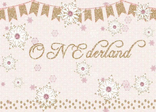 Onederland Pink 1st Birthday Girl Invitation - Custom Printable - Invites and Delites