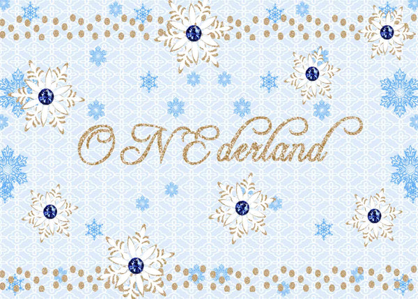 Onederland Blue 1st Birthday Boy Invitation - Custom Printable - Invites and Delites