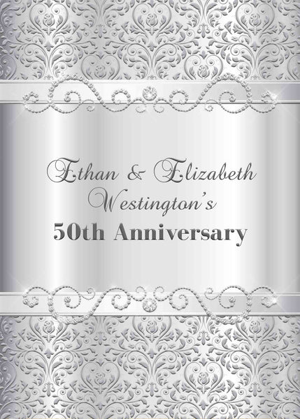 Silver Wedding Anniversary of Parents Invitation - I can change the wording for any event - Custom Order