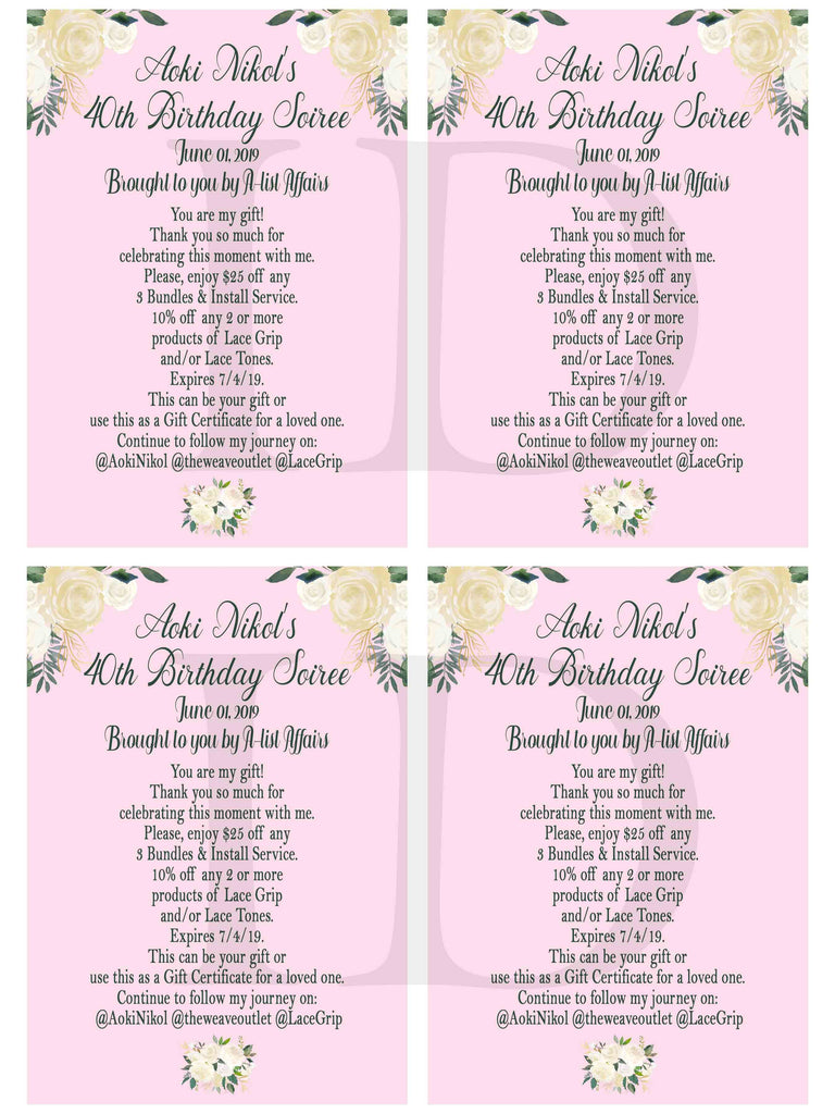 Custom Order - Ms. D - Customized Birthday Post Cards - Rush order - Custom Digital Files