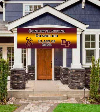 Deer Park Graduation Congratulations Banner 6ft x 2ft File or Printed Banner - Free Shipping