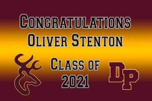 Deer Park Graduation Front Door Banner File or Printed Banner 2ft x 3ft - Free Shipping