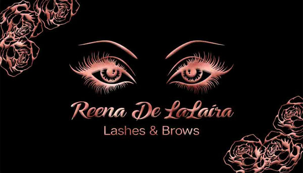 Rose Gold and Black Eyelash Makeup or Beauty Business Cards 1 - Custom Order