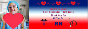 Frontline Workers and First Responder Photo Banner 6ft x 2ft File or Printed Banner - Free Shipping