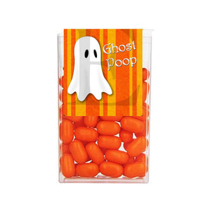Halloween Ghost Two Tone Orange Tic Tac 1 oz - 29g Labels - Instant Printable - Invites and Delites
