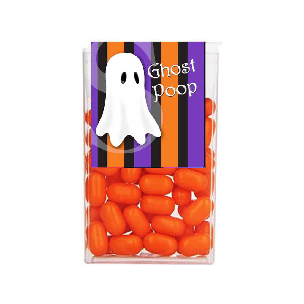 Halloween Ghost Orange Purple Stripe Tic Tac 1 oz - 29g Labels - Instant Printable - Invites and Delites