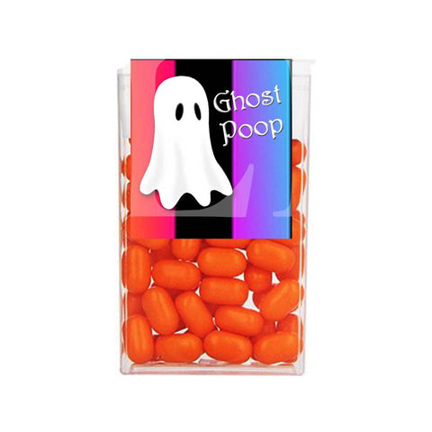 Halloween Ghost Orange Purple Ombre Stripe Tic Tac 1 oz - 29g Labels - Instant Printable - Invites and Delites