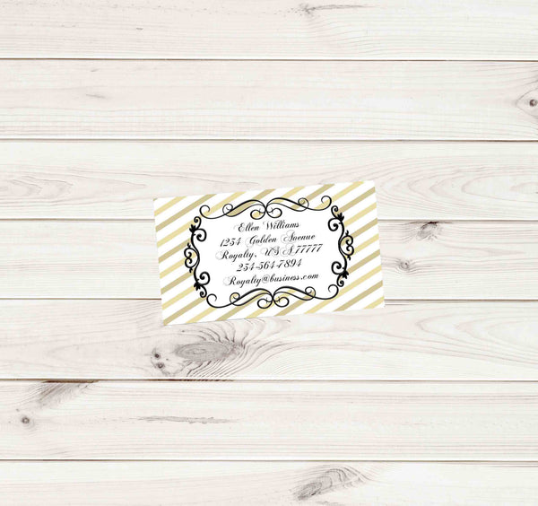 Gold White and Black Swirl Successful Business Cards - Custom Order