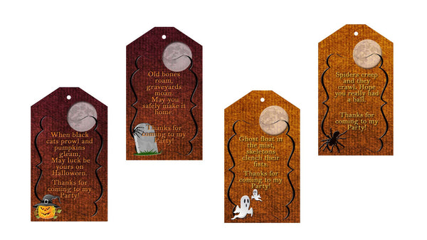 "Halloween Thank You Coming To My Party Graveyard Avery 22802 2""X3.5"" 8ct - Instant Download"