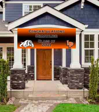 La Porte Graduation Banner 6ft x 2ft File or Printed Banner - Free Shipping