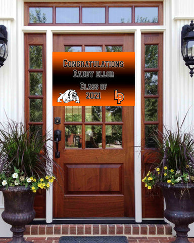 La Porte Graduation Front Door Banner 2ft x 3ft File or Printed Banner - Free Shipping