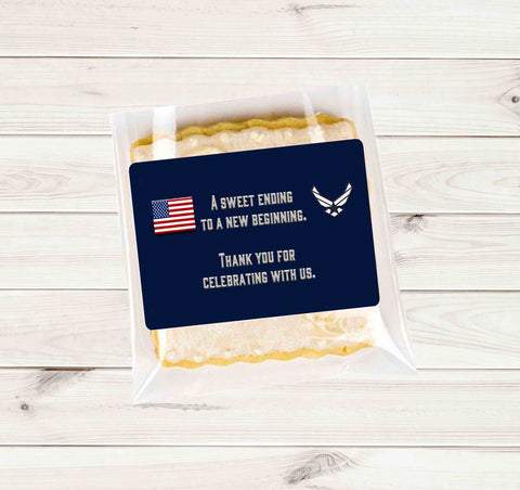 Air Force American Flag Cookie Stickers  - Printed or File