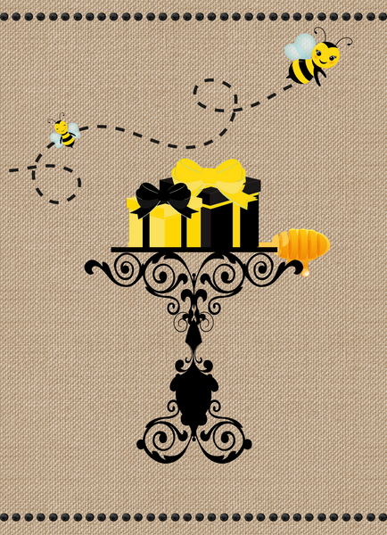 Mom to Bee Bumble Bee Blonde Baby Shower Invitation - Printed or File