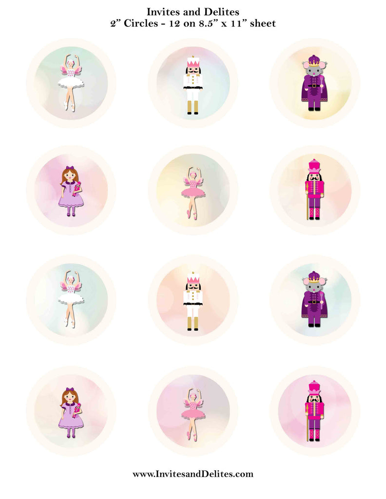 picture relating to Printable Sticker Labels known as Nutcracker Suite People Ivory 2