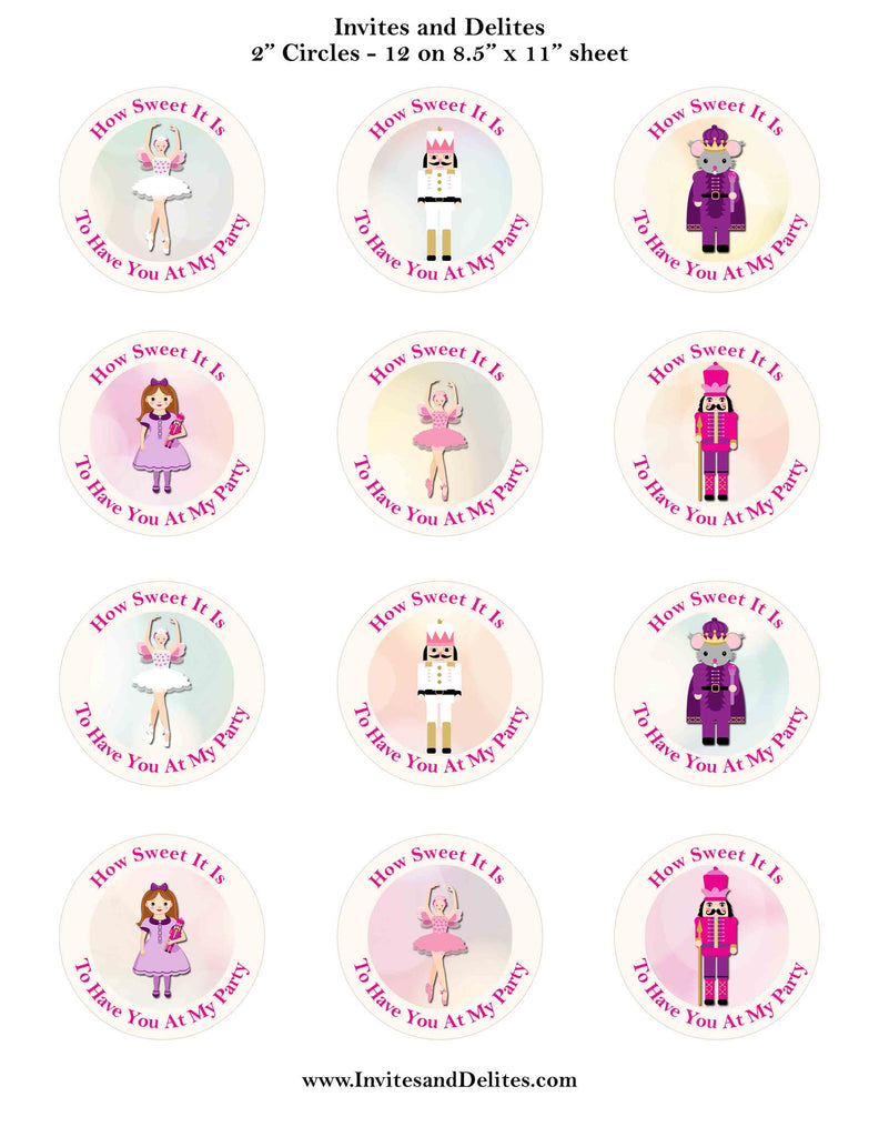 photo relating to Printable Sticker Labels identified as Nutcracker Suite People How Adorable It Is Ivory 2