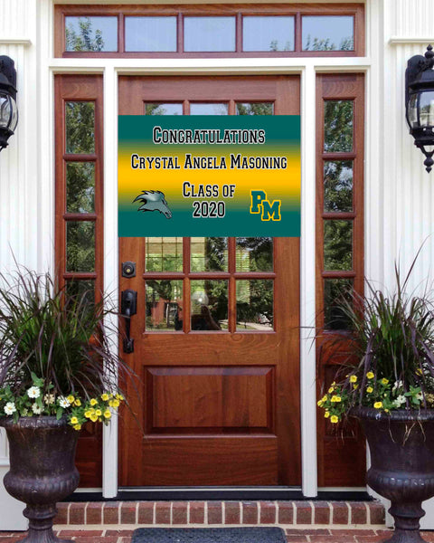 Pasadena Memorial Graduation Front Door Banner 2ft x 3ft File or Printed Banner - Free Shipping
