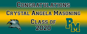 Pasadena Memorial Graduation Banner 6ft x 2ft File or Printed Banner - Free Shipping