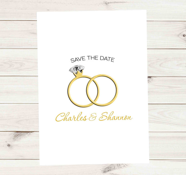Save the Date Photo Wedding Invitation