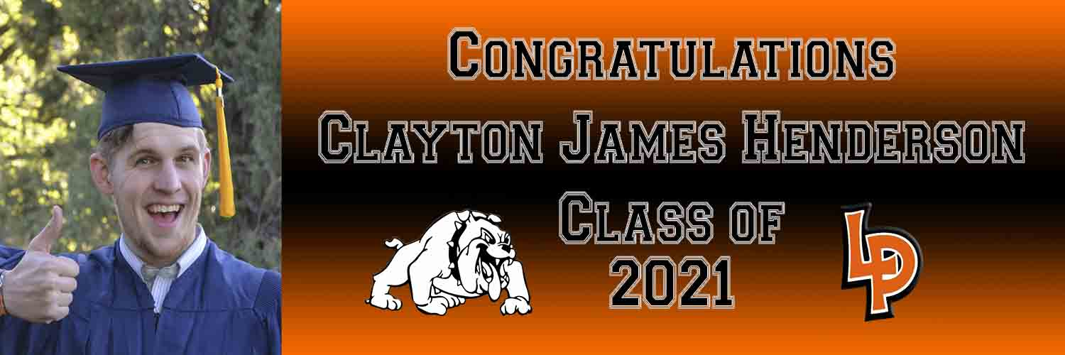 La Porte with Picture Graduation Banner 6ft x 2ft File or Printed Banner - Free Shipping