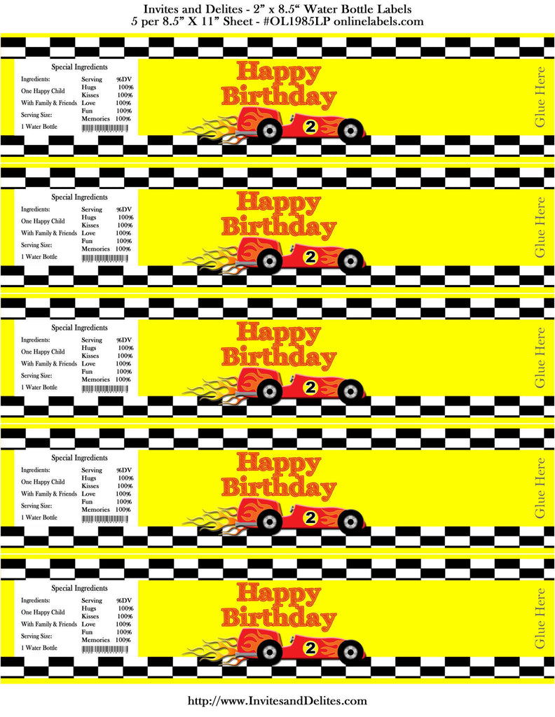 photo regarding Race Track Printable named Race Observe Autos Yellow Checkered Satisfied Birthday H2o Bottle Labels - Instantaneous Printable