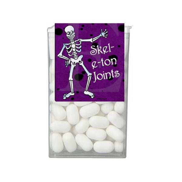 Halloween Skeleton Joints Purple Splatter Tic Tac 1 oz - 29g Labels - Instant Printable - Invites and Delites