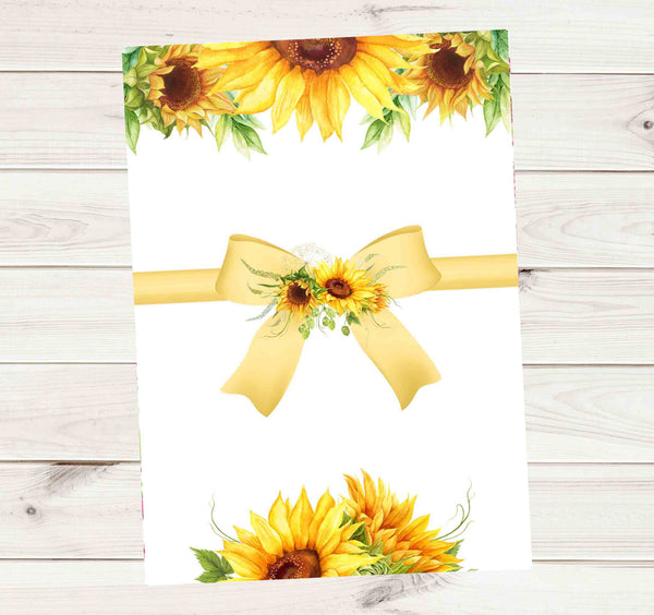 Sunflower Baby Shower Invitation - Printed or File