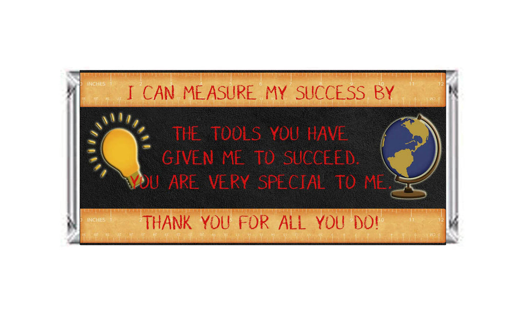 Teacher Appreciation Measure My Success Ruler Candy Bar 40g Labels - Instant Printable