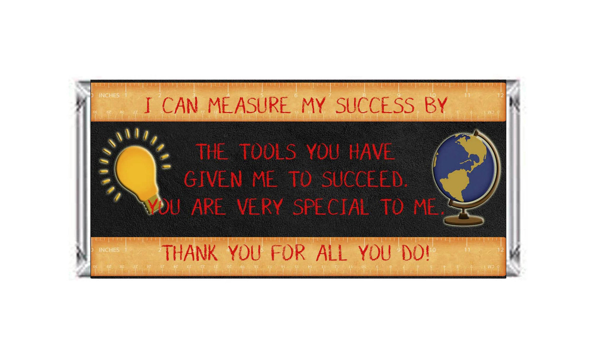 Teacher Appreciation Measure My Success Ruler Candy Bar 40g Labels - Instant Printable - Invites and Delites