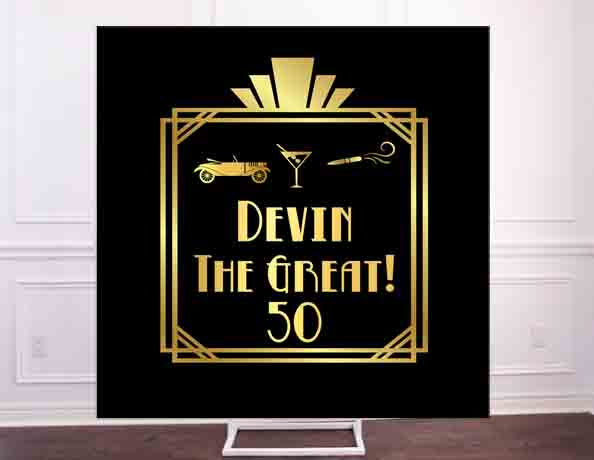 Great Gatsby Golden Hollywood Era Backdrop - Custom File or Printed and Shipped