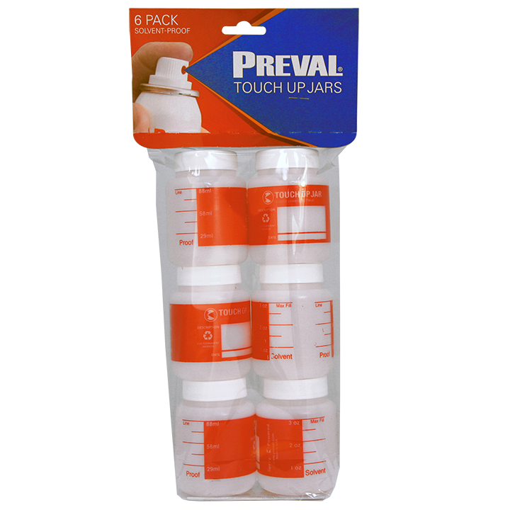 PREVAL TOUCH UP JARS (6 PACK - OF 89ML PLASTIC JARS) Code: 0271-1