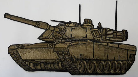 "Tank, M1 Abrams Tank Large Embroidered Patch 11.9"" x 6.7"""
