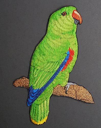 Eclectus Parrot Male Embroidered Patch