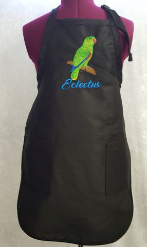 Eclectus Parrot Male Embroidered on an Apron