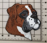 "Boxer Dog Embroidered Patch 5.5"" x 5.9"""
