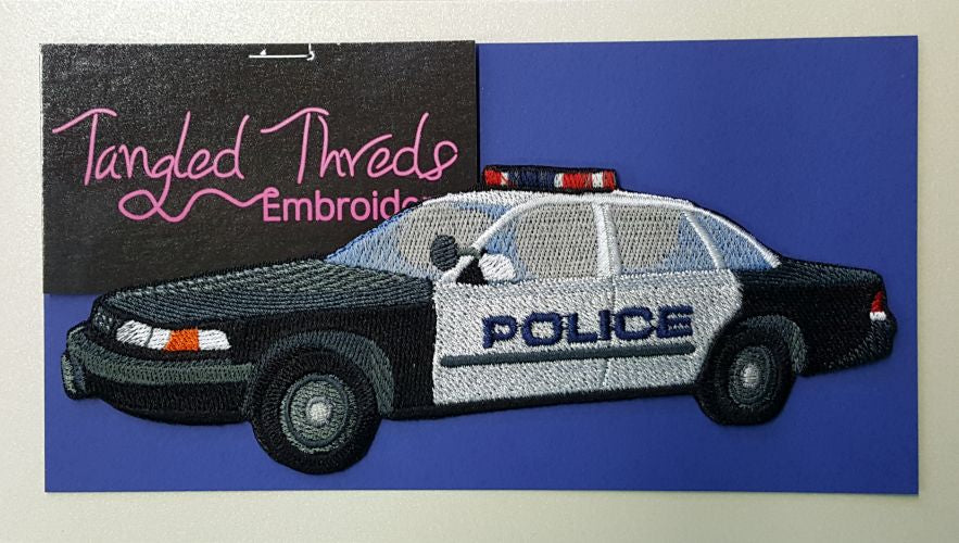 Police Car Embroidered Patch