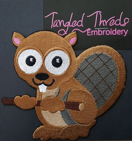 Beaver, (Wide-eyed) Embroidered Patch