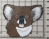 "Koala Head Embroidered Patch 7."" x 5.7"""