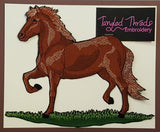 "Paso Fino, Horse Embroidered Patch Approx Size 8.9"" x 7.3"""