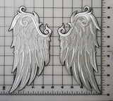 Wings, Angel Wings, Bird Wings Embroidered Patch Pair