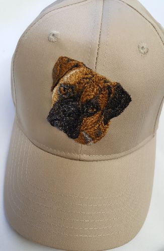 Boxer Dog, Embroidered Hat