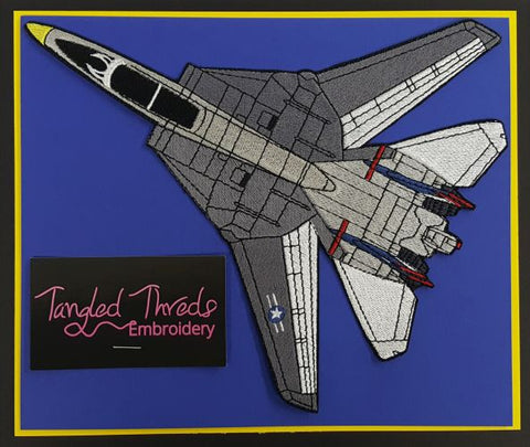 "F-14A Tomcat, Military Plane Embroidered Patch 10""x7.8"" Free USA Shipping"